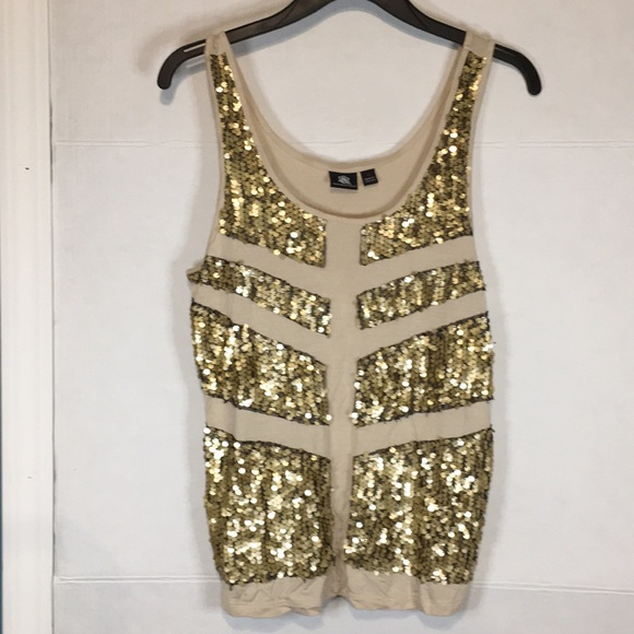 Rock & Republic Tops - Rock & Republic Women's Sequined Tank Top Size M